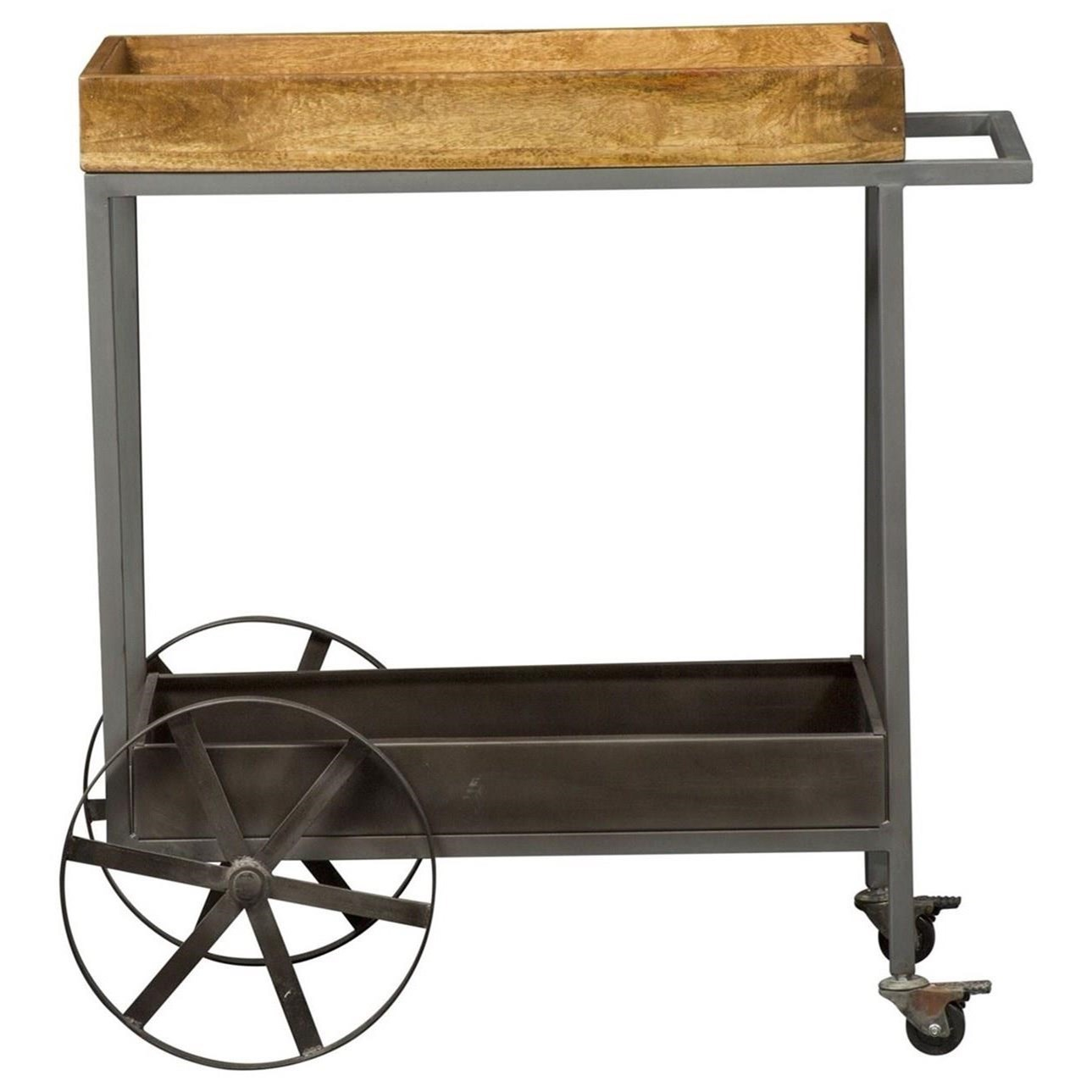 Contemporary Accent Bar Trolley
