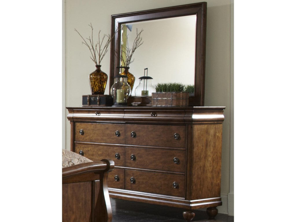Liberty Furniture Rustic TraditionsDresser and Mirror
