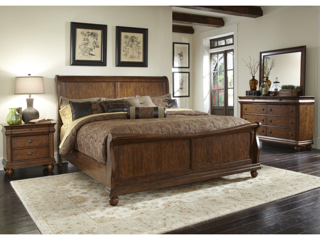 Shown with Mirror, Sleigh Bed & Nightstand