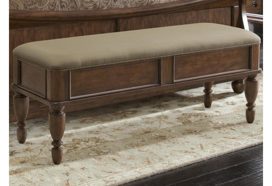 Liberty Furniture Rustic Traditions 589-BR47 Bed Bench with ...