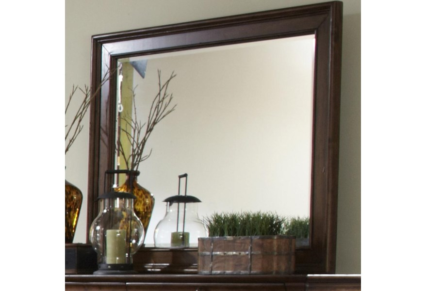 Libby Rustic Traditions Beveled Landscape Mirror With Wood Frame Walker S Furniture Dresser Mirrors