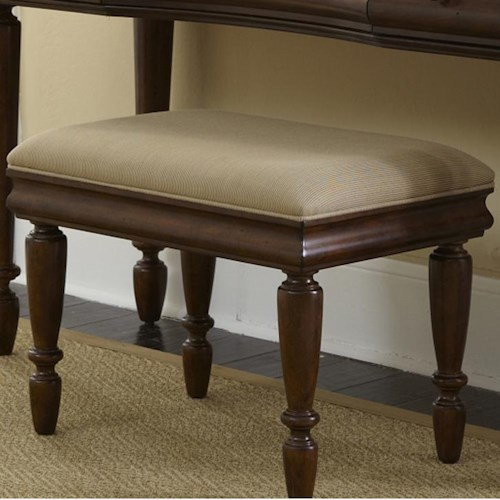 Liberty Furniture Rustic Traditions Vanity Bench with Turned Legs ...