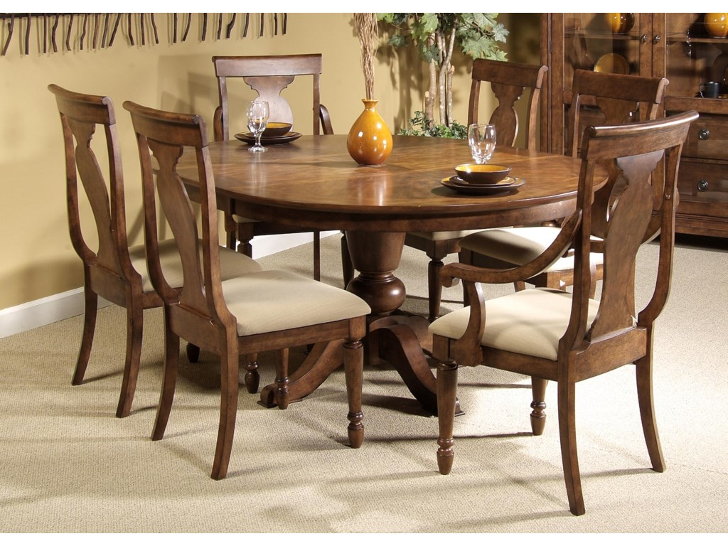 Shown with Arm Chairs and Pedestal Table