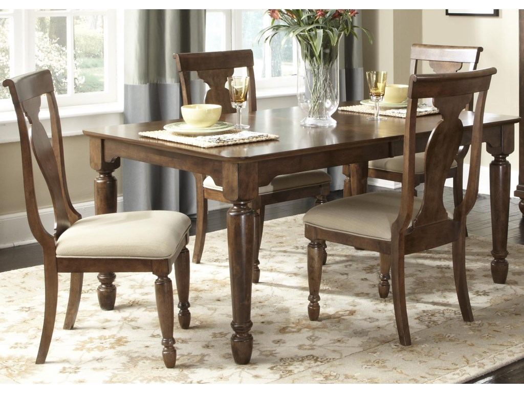 Liberty Furniture Rustic Traditions5 Piece Rectangular Table Set