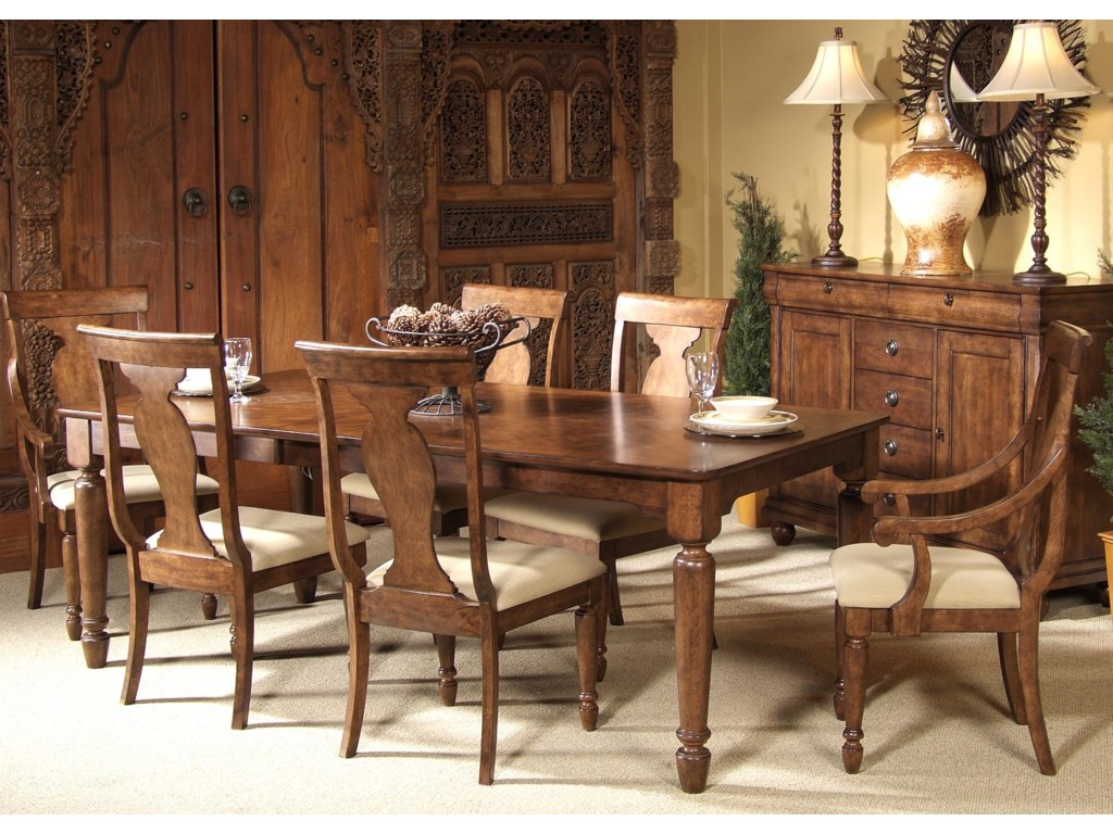 Shown with Side and Arm Chairs and Leg Table