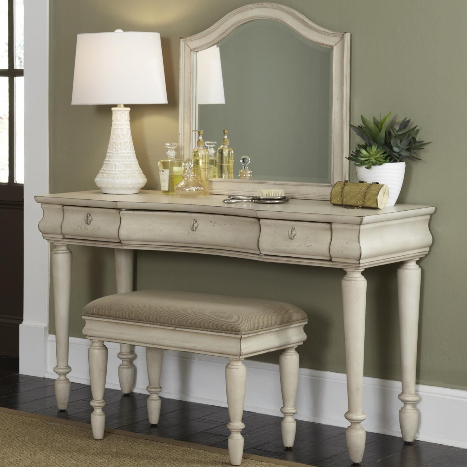 Attrayant Liberty Furniture Rustic Traditions Vanity Set With Turned Legs