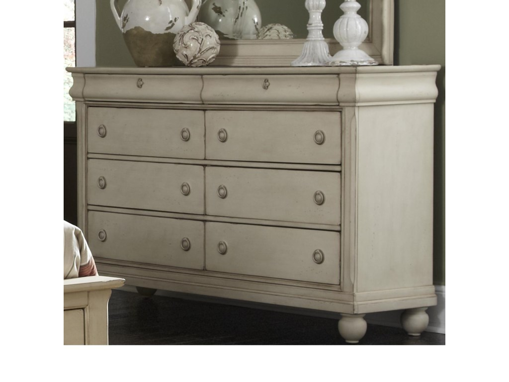 Liberty Furniture Rustic Traditions Eight Drawer Dresser With Antique Br Hardware