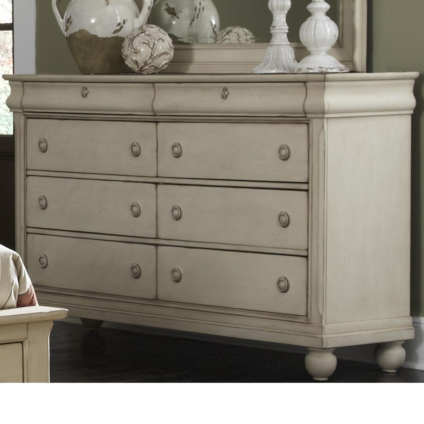 Beau Liberty Furniture Rustic Traditions Eight Drawer Dresser With Antique Brass  Hardware