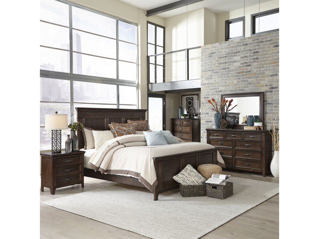 Liberty Furniture SaddlebrookQueen Panel Bed