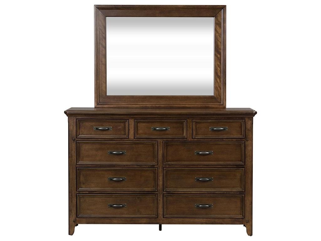 Vendor 5349 Saddlebrook9 Drawer Dresser