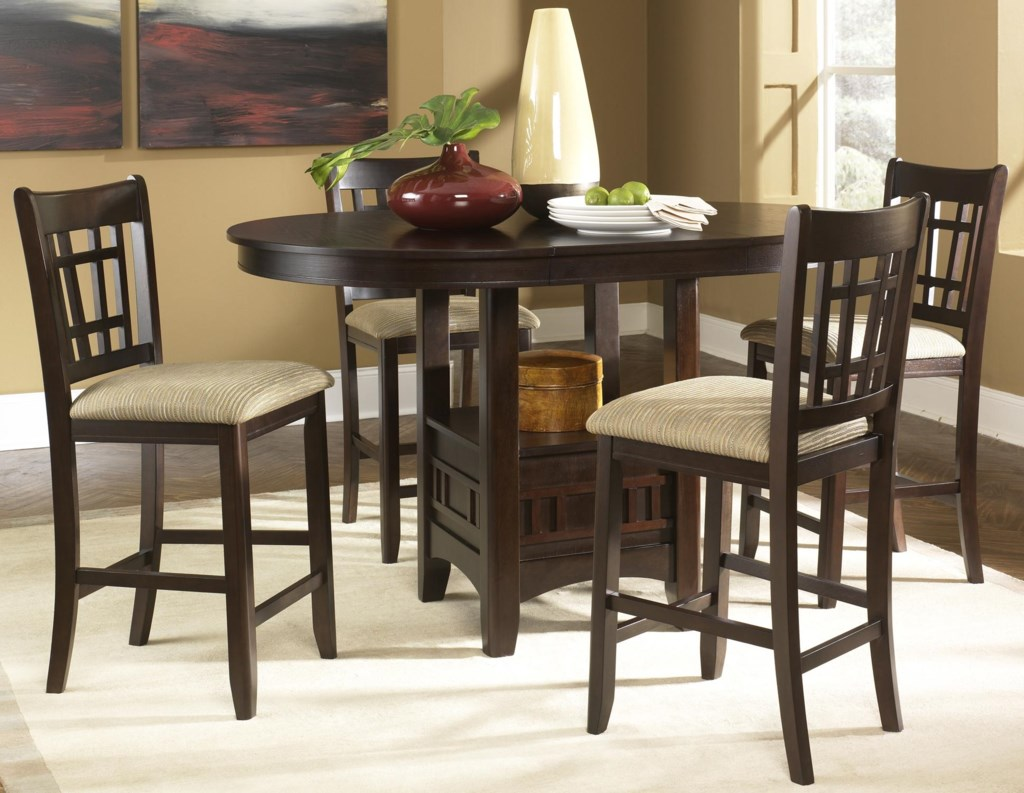 Liberty Furniture Santa Rosa Oval Pub Table 24 Inch Upholstered