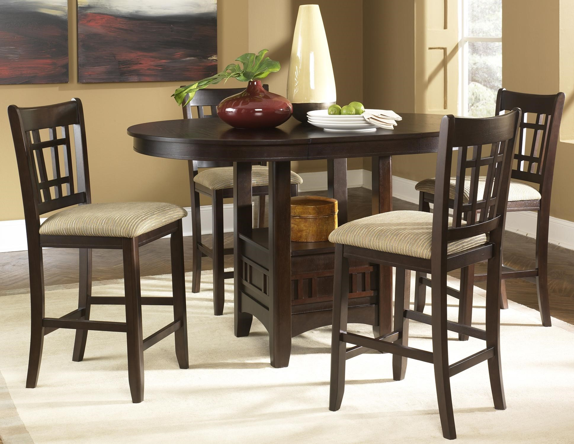 Etonnant Santa Rosa Oval Pub Table U0026 24 Inch Upholstered Bar Stool Set By Liberty  Furniture