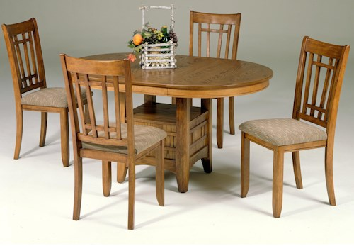 Liberty Furniture Santa Rosa 5 Piece Pedestal Table Set W 4 Mission Side Chairs