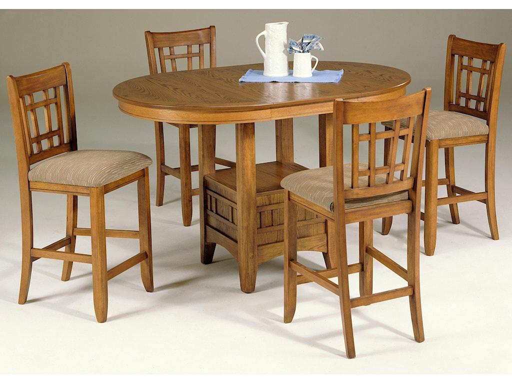 Santa Rosa Oval Pub Table 24 Inch Upholstered Bar Stool Set By Liberty Furniture