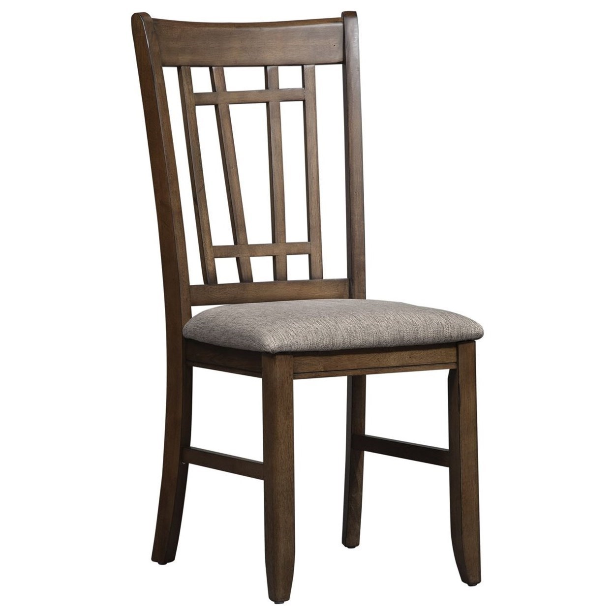 Mission Lattice Back Side Chair with Upholstered Seat