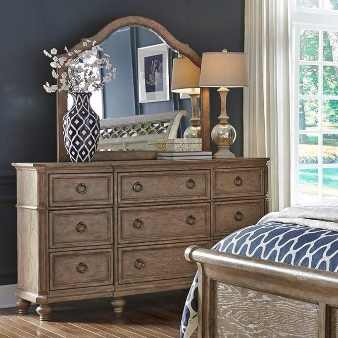 Liberty Furniture 412-BRDresser & Mirror Set