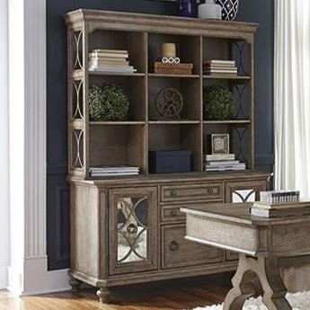 Liberty Furniture Simply Elegant Cottage Credenza and Hutch with Open Shelving