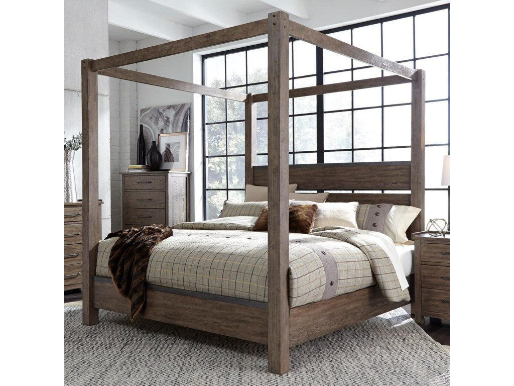 Liberty Furniture Sonoma RoadQueen Canopy Bed
