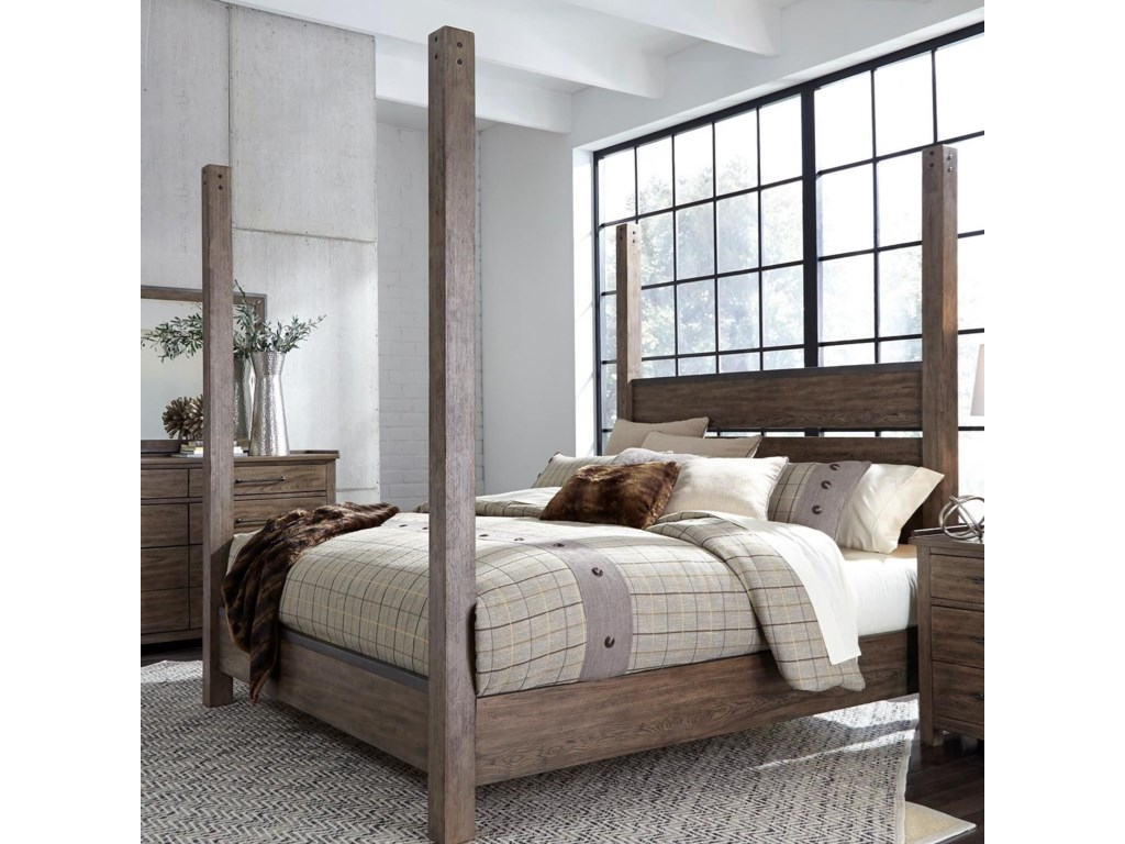 Liberty Furniture Sonoma RoadQueen Poster Bed