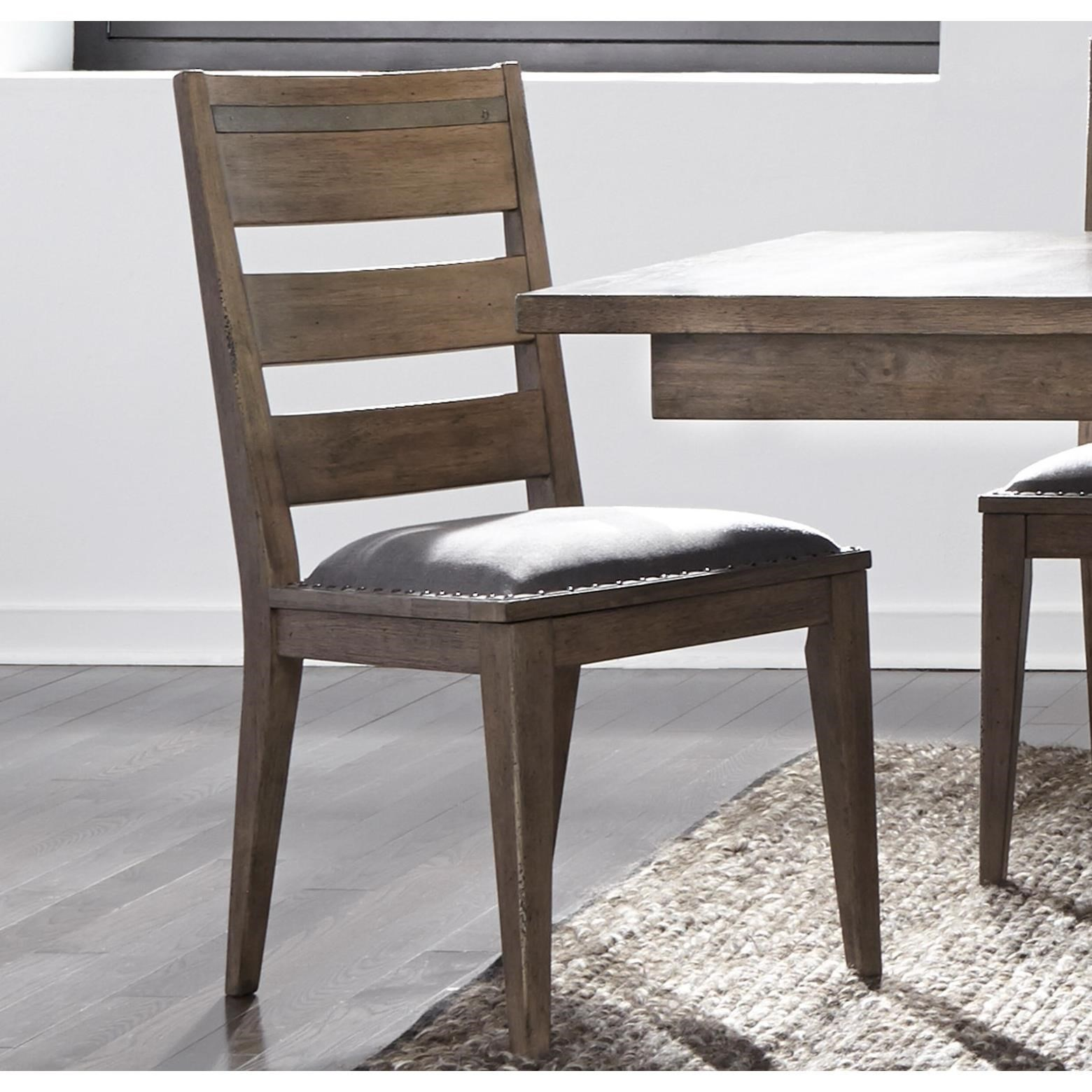 Liberty Furniture Sonoma Road Contemporary Upholstered Ladder Back Side  Chair   Darvin Furniture   Dining Side Chairs