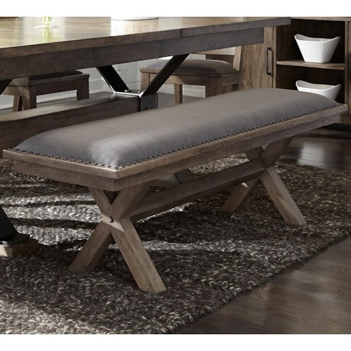 Liberty Furniture Sonoma Road Contemporary Upholstered Dining Bench