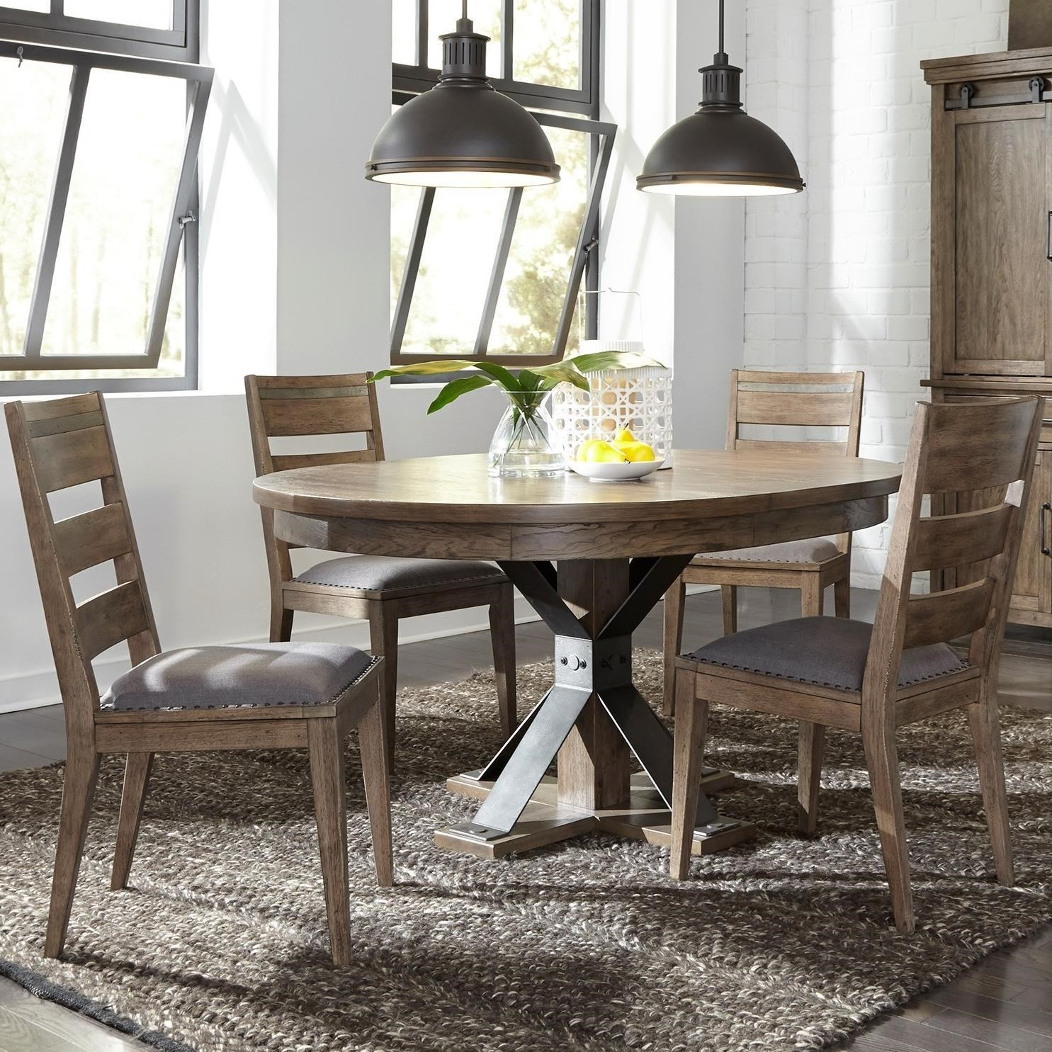 Liberty Furniture Sonoma Road 5 Piece Pedestal Table And Chair Set