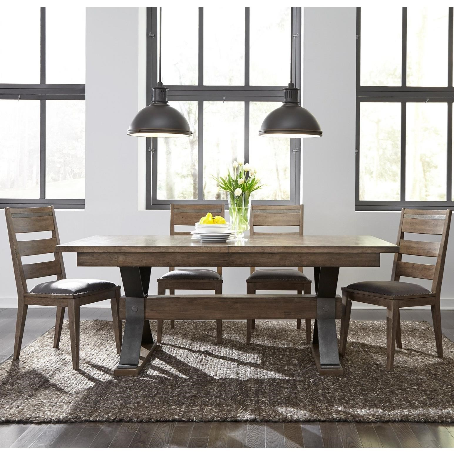 Exceptionnel Liberty Furniture Sonoma Road 5 Piece Trestle Table And Chair Set