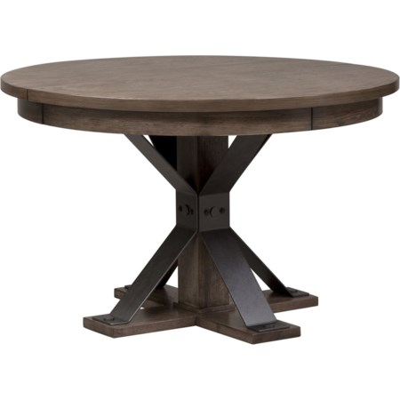 Oval Pedestal Table