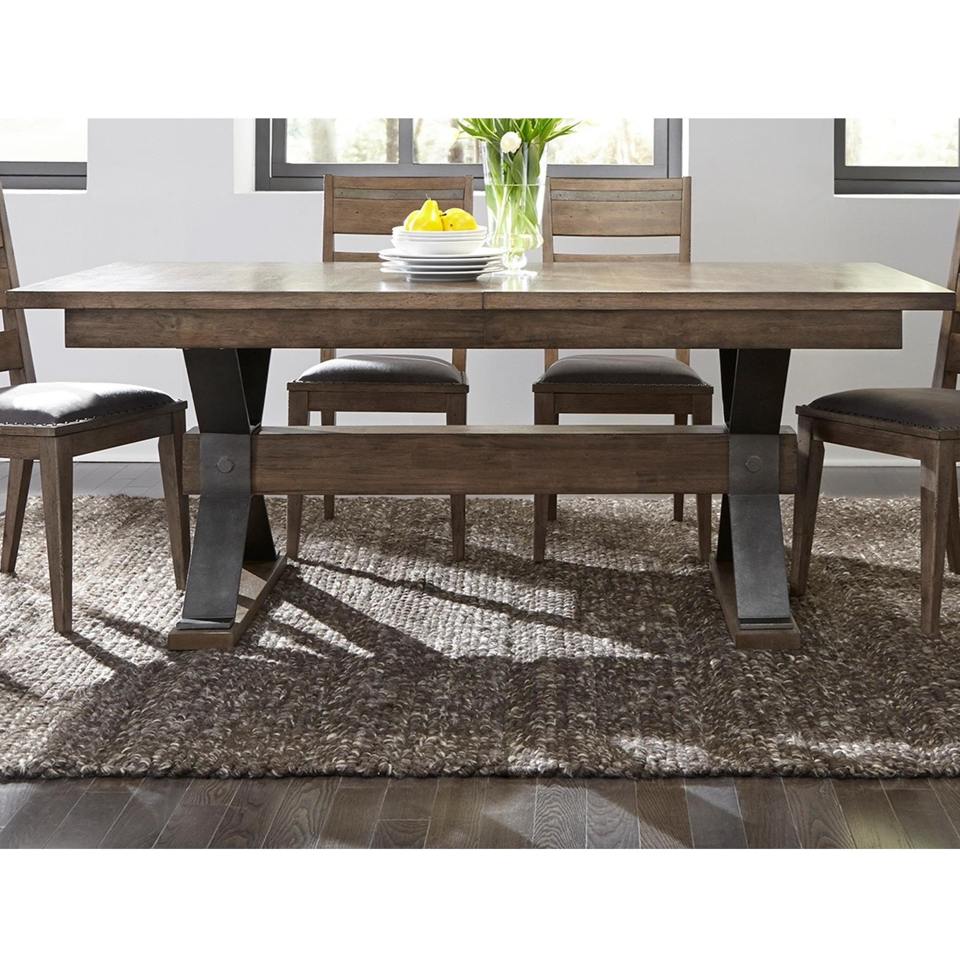 liberty furniture dining table. Liberty Furniture Sonoma Road Contemporary Rectangular Trestle Table Dining U