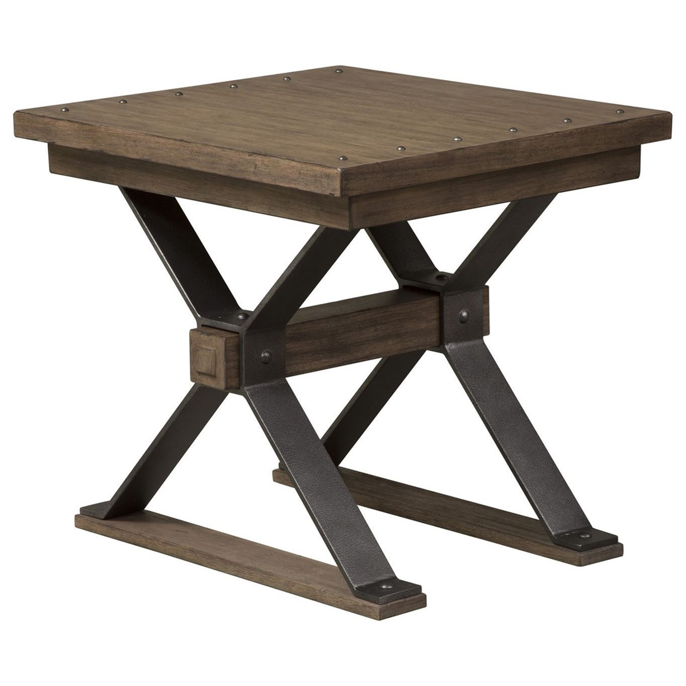 Liberty Furniture Sonoma Road Contemporary End Table With Nail Head Accents