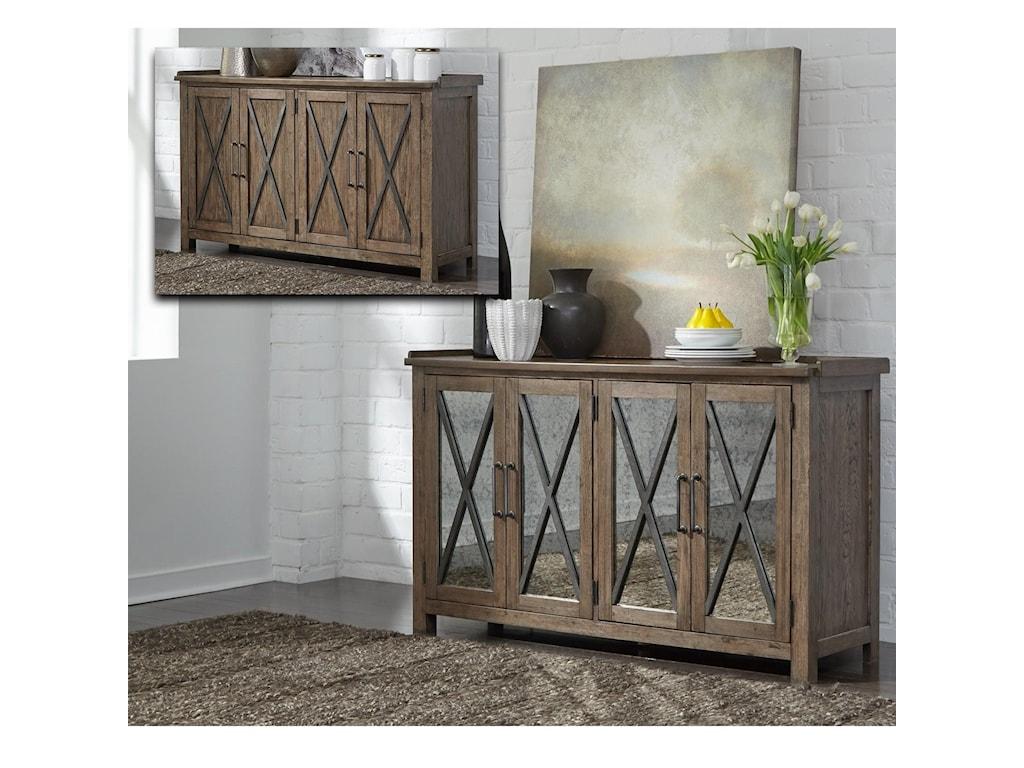 Liberty Furniture Sonoma RoadSideboard with Reversible Doors