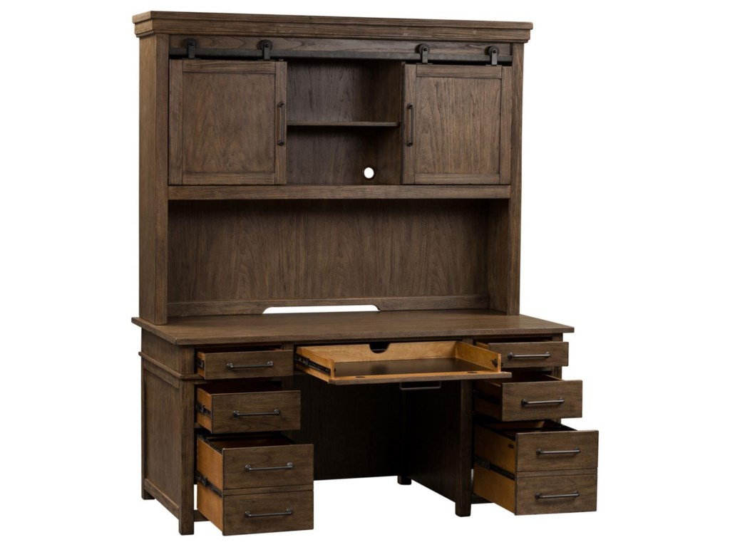 Liberty Furniture Sonoma RoadExecutive Desk and Hutch