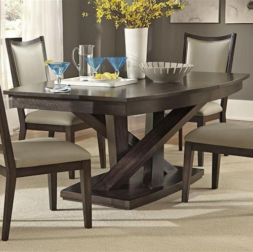 Liberty Furniture Southpark Contemporary Rectangle Pedestal Dining ...