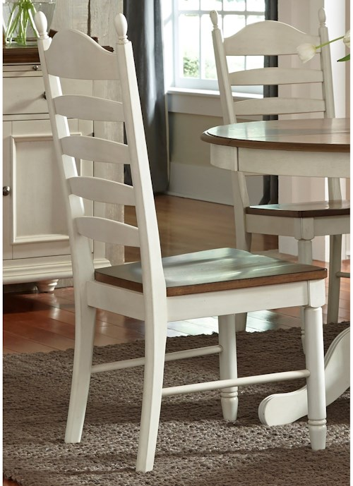Liberty Furniture Springfield Dining Ladder Back Side Chair