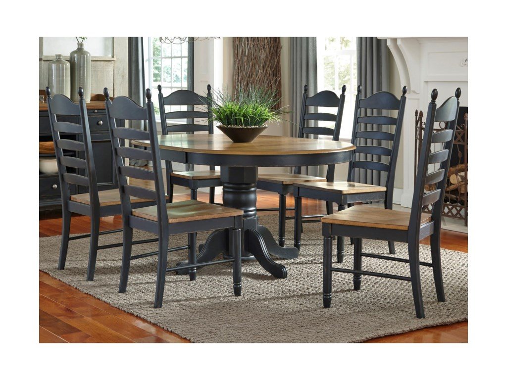 Liberty Furniture 7 Piece Pedestal Table & Chair Set