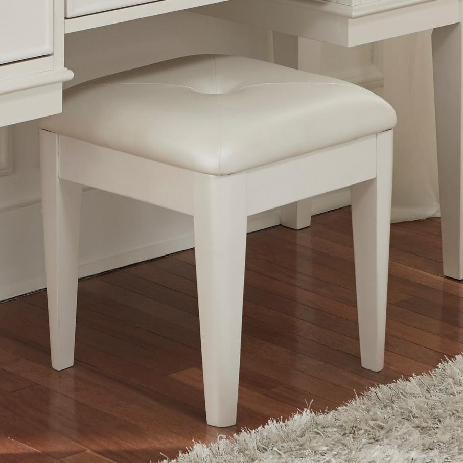 Liberty Furniture Stardust Upholstered Vanity Bench Royal Furniture Vanity Stools Vanity Chairs