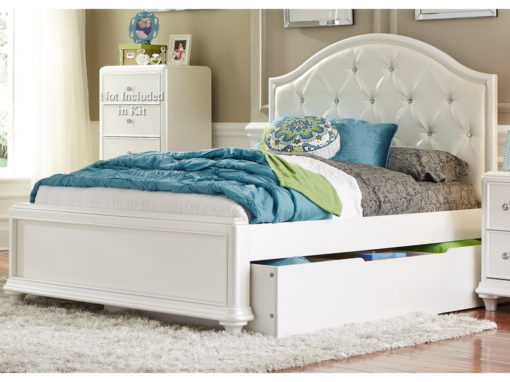 Vendor 5349 StardustTwin Trundle Bed