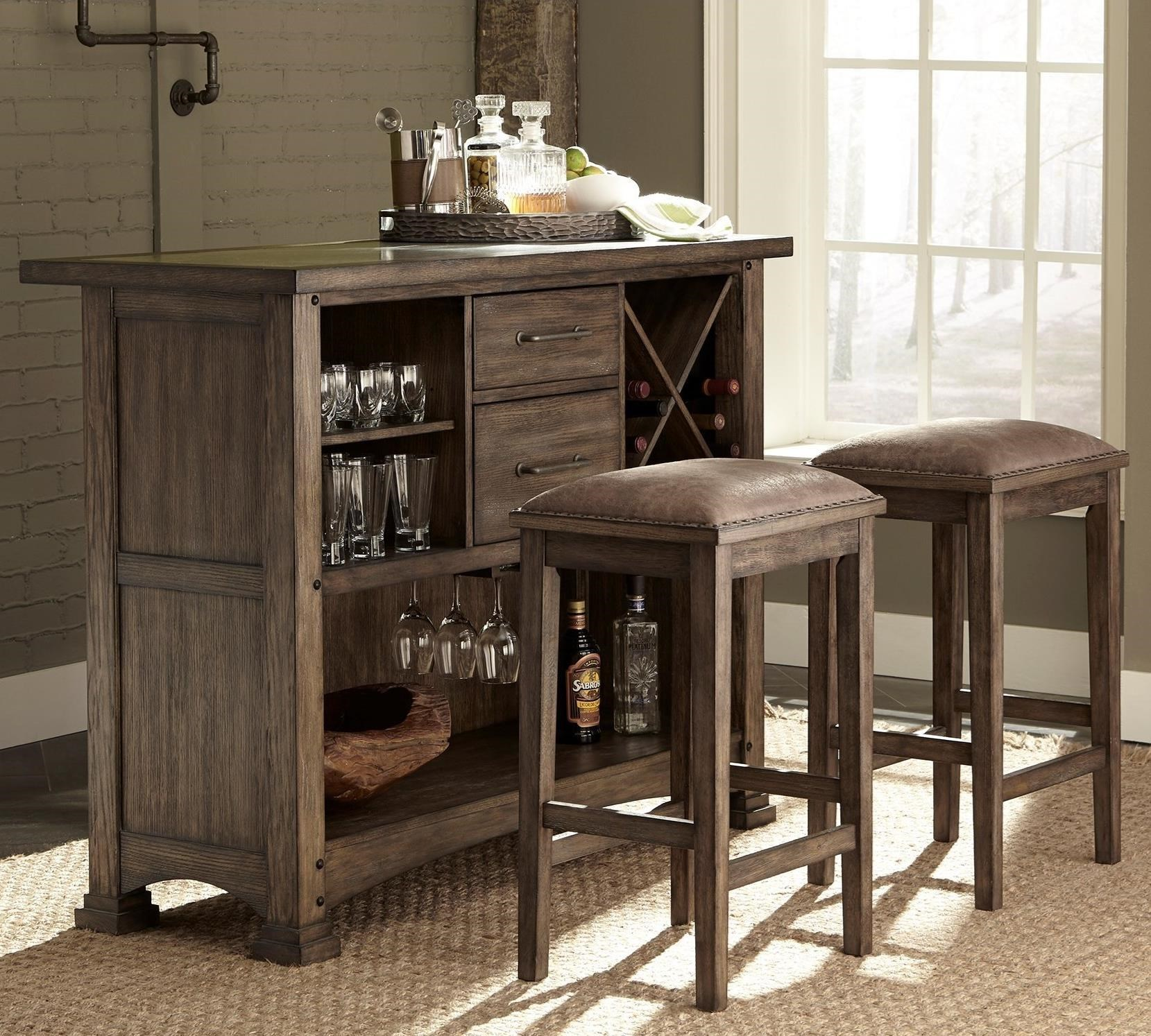 Delicieux Liberty Furniture Stone Brook 3 Piece Bar And Stool Set