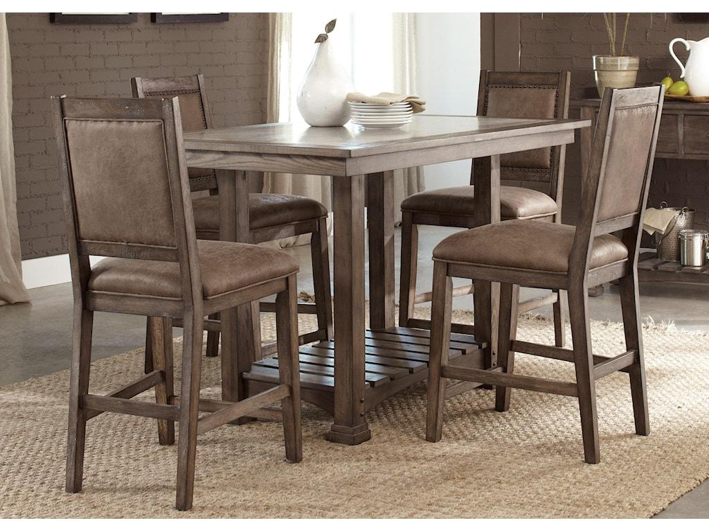 Liberty Furniture Stone Brook5 Pc Gathering Table Set