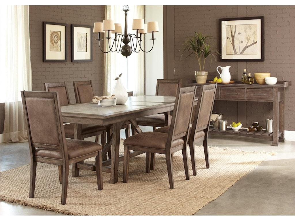 Liberty Furniture Stone Brook7 Pc Trestle Table Set