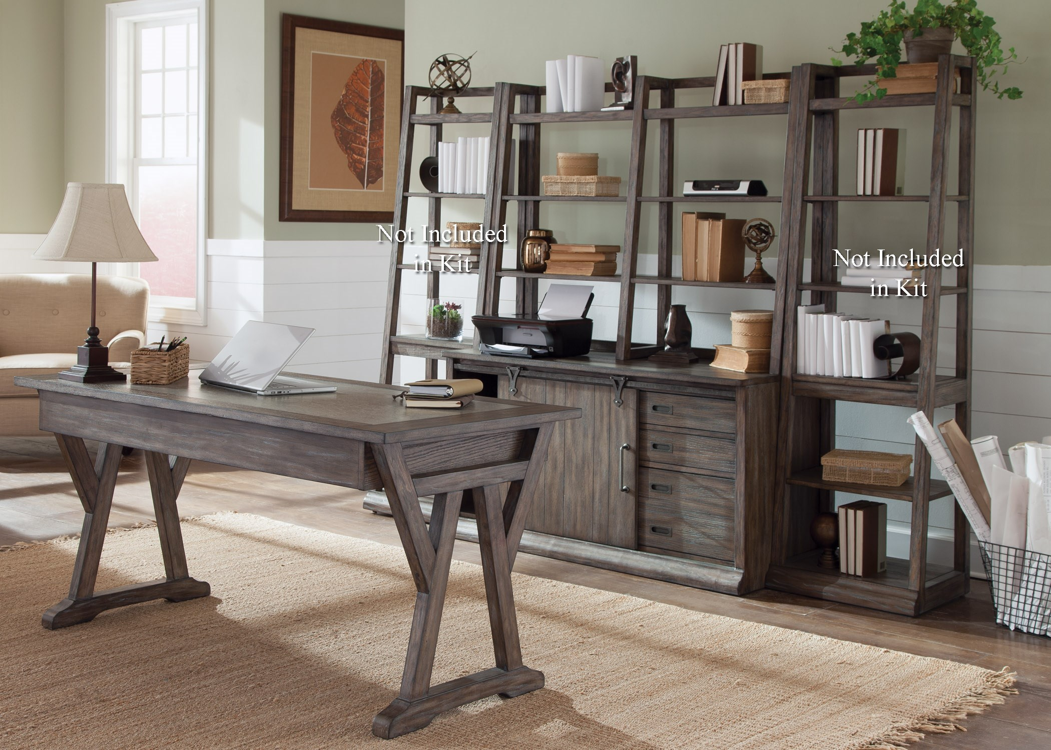 Exceptionnel Liberty Furniture Stone Brook Complete Desk In Distressed Wood Finish