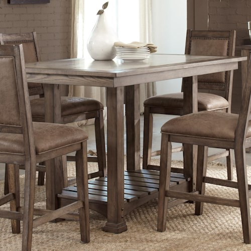 liberty furniture stone brook casual cement top kitchen island table - Casual Kitchen Table