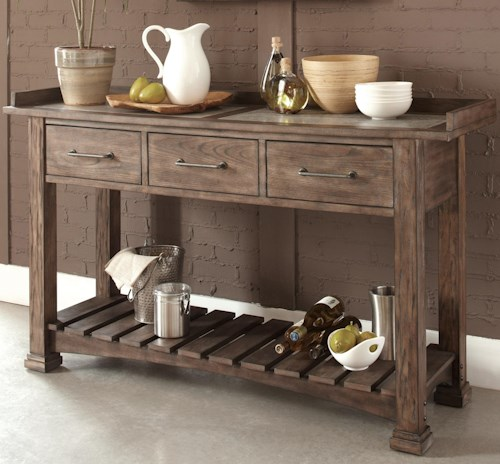 Liberty Furniture Stone Brook Casual Server With 3 Drawers