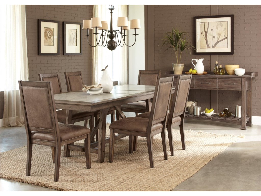 Liberty Furniture Stone BrookTrestle Table