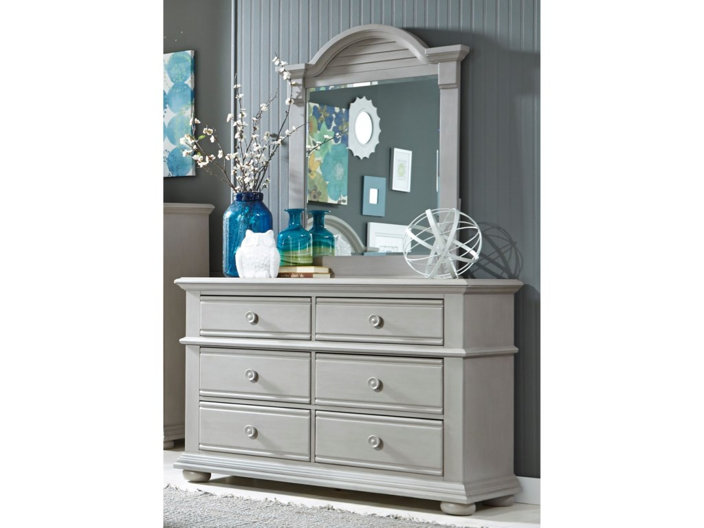 Liberty Furniture Sumer House Youth6 Drawer Dresser & Mirror