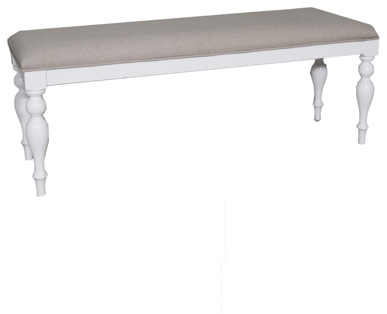Transitional Dining Bench with Turned Legs