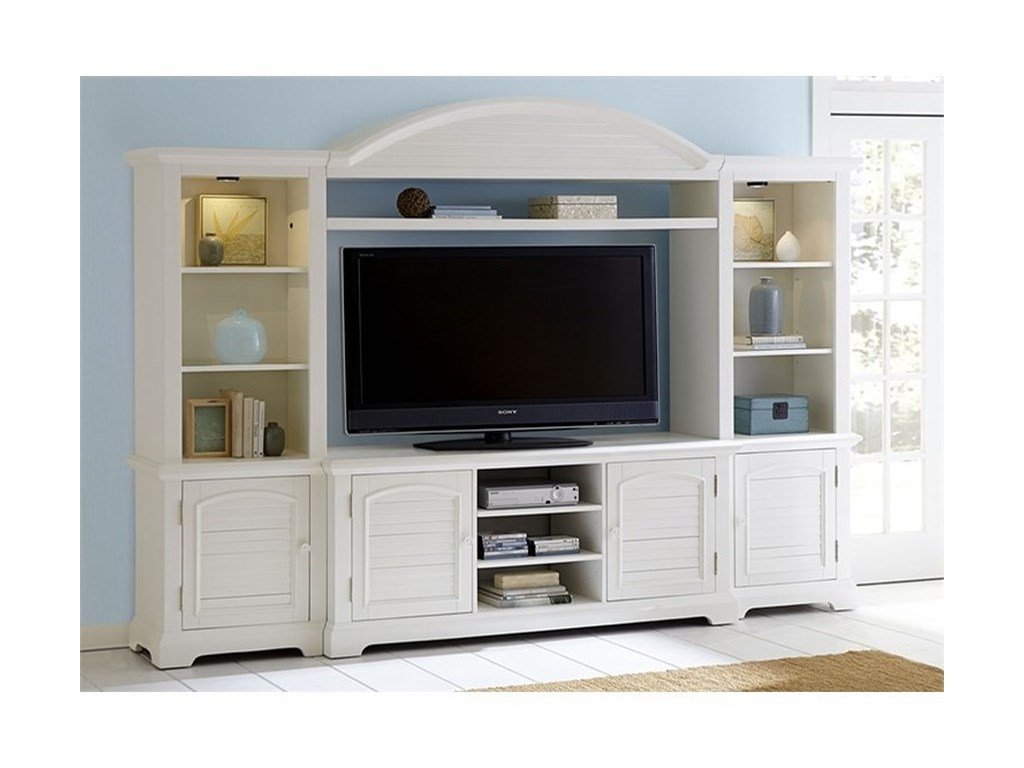 Liberty Furniture Summer HouseEntertainment Center with Piers
