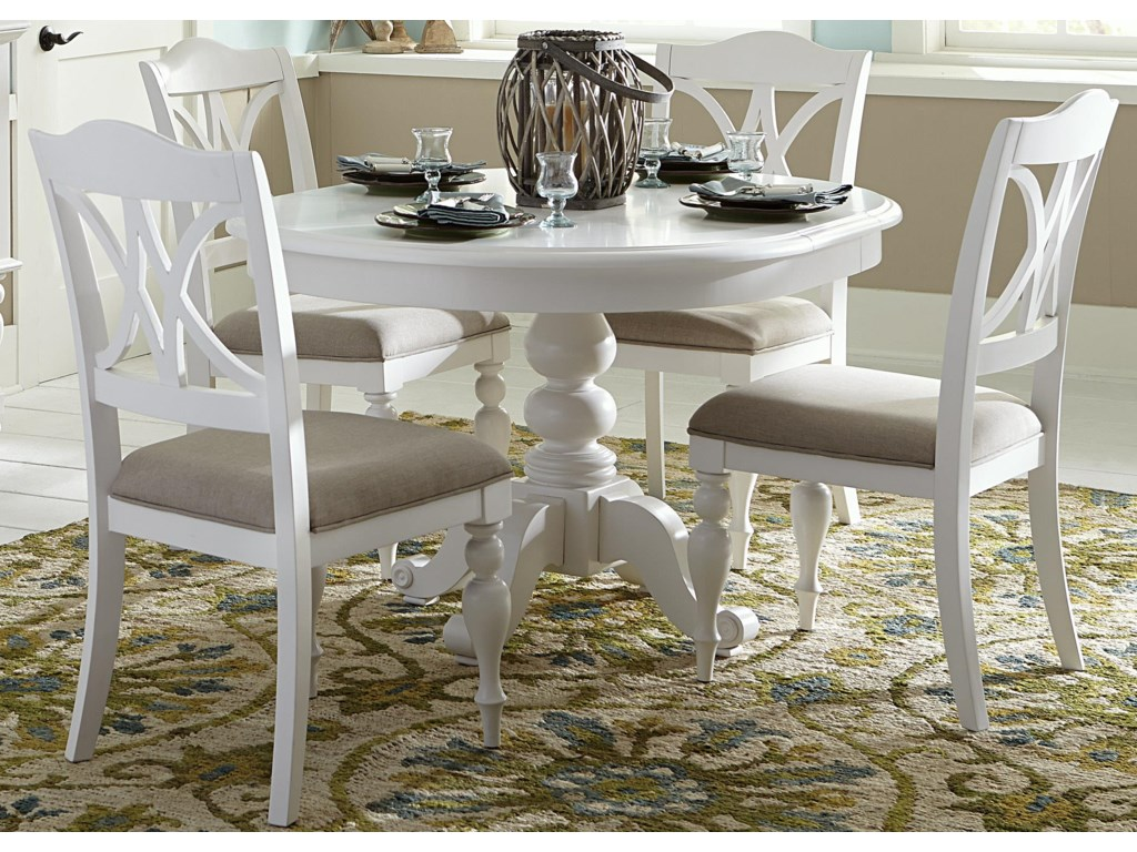 Bailey Round Table With Turned Pedestal Base