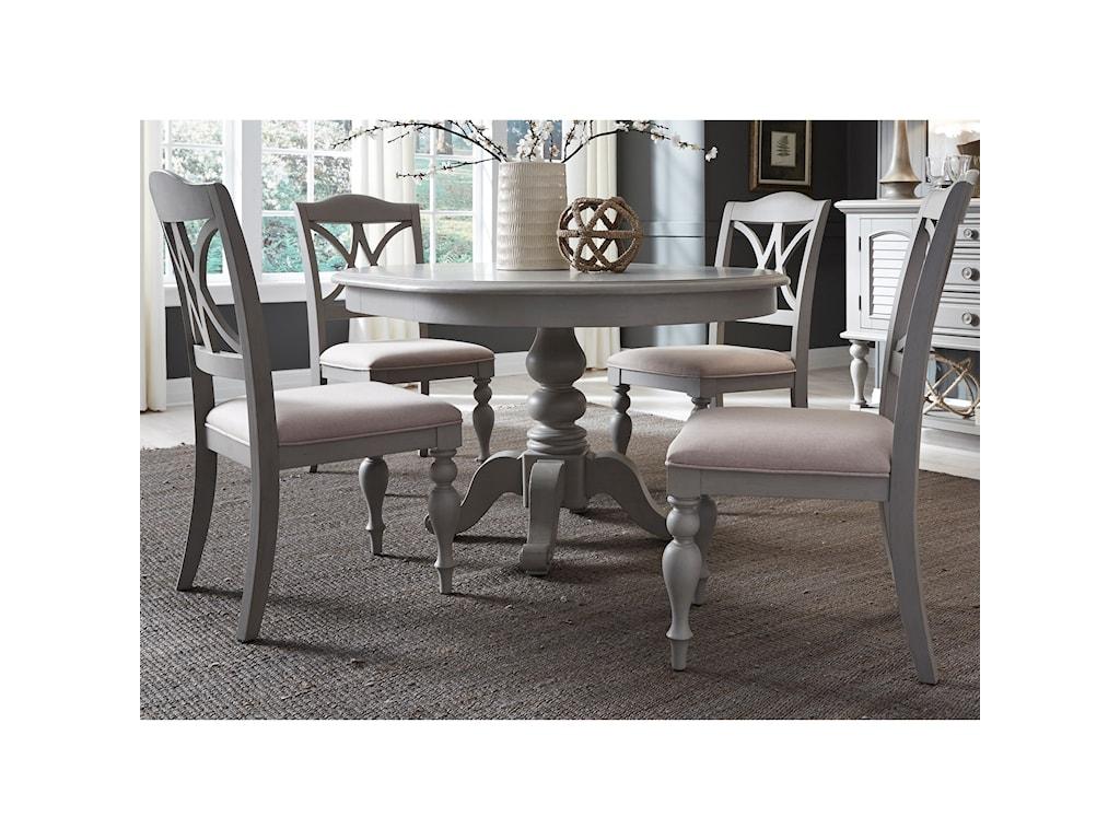 Summer House Dining 5 Piece Pedestal Table Set By Sarah Randolph Designs