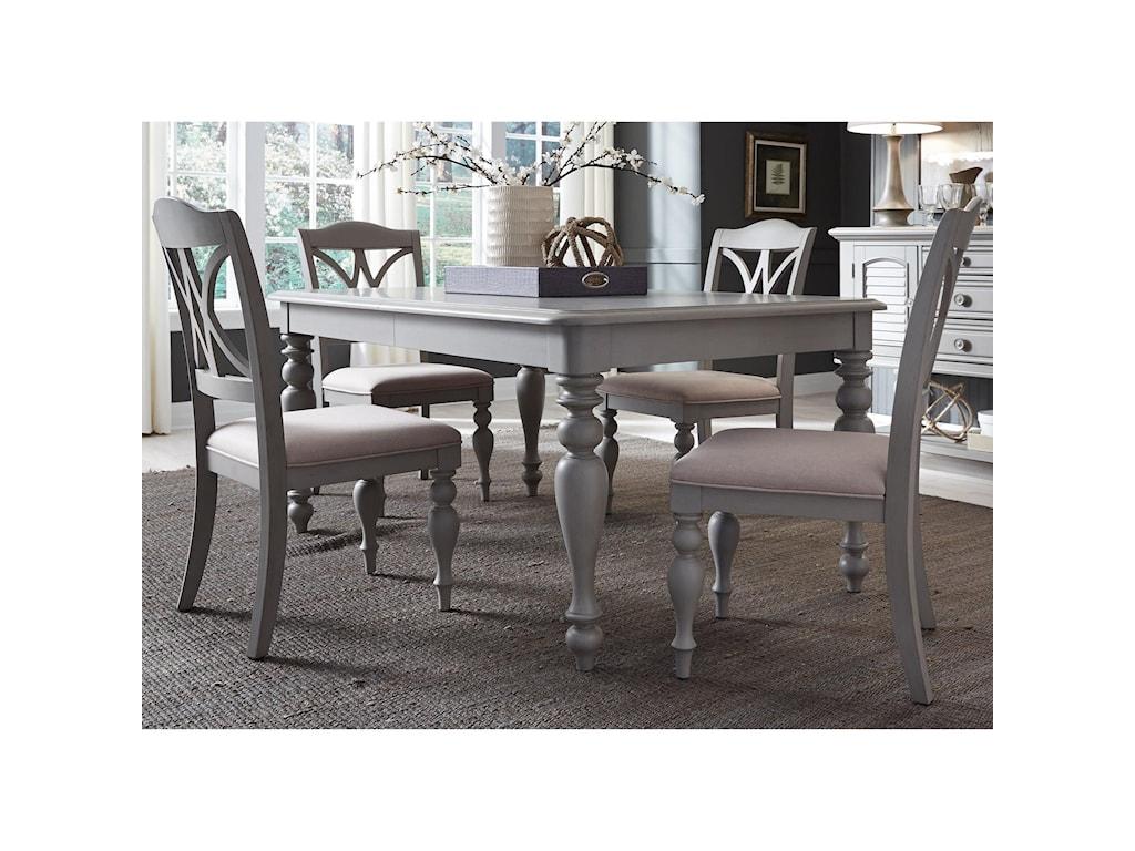 Liberty Furniture Summer House Dining 5 Piece Rectangular Table Set